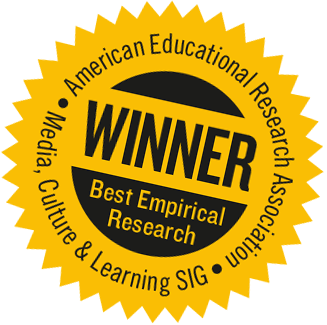 Winner: Best Empirical Research, AERA, Media, Culture, and Learning Special Interest Group